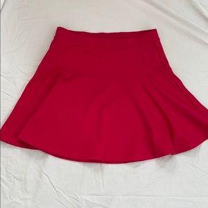 Bright pink circle skirt